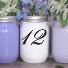 "Wedding Table Numbers 1-20 Centerpiece Vinyl Sticker Decals (3""h Numbers) (c)"