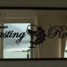 """Tasting Room Wine Quote Vinyl Wall Sticker Decal 2.75""""h x 11""""w"""