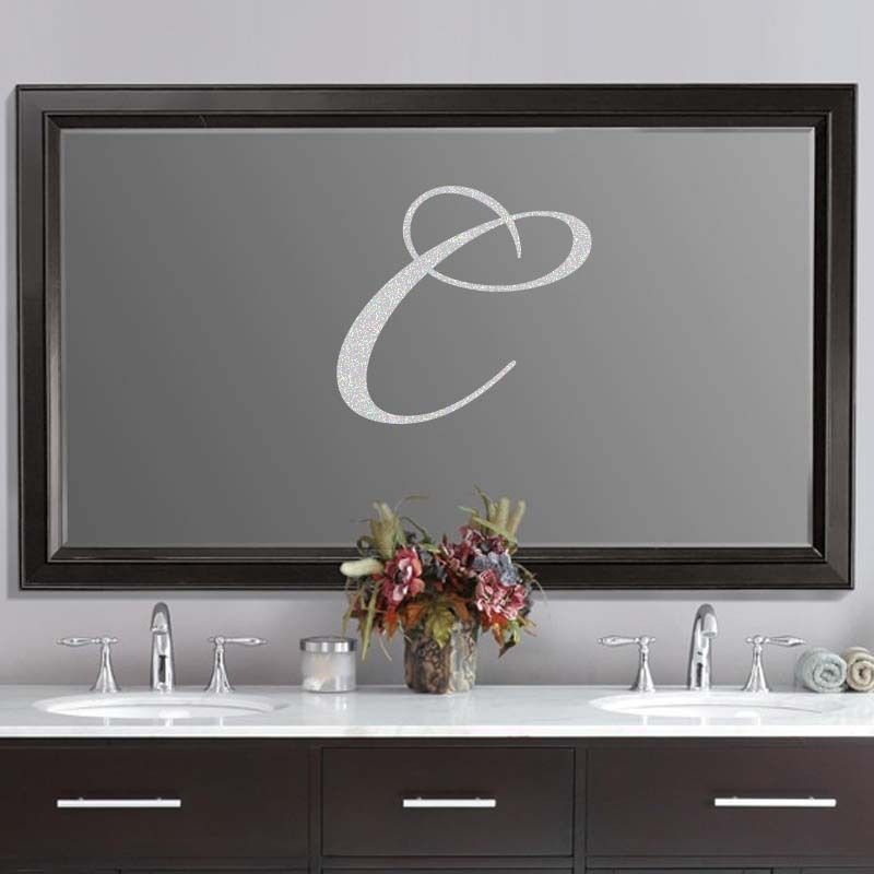 """Custom Script Wedding Letter Frosted Etched Glass Vinyl Sticker Decal 22""""h"""