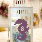 "Seahorse Beach Wedding Table Numbers 1-20 Vinyl Sticker Decals 3""h"