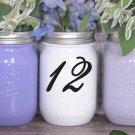 "Wedding Table Numbers 1-20 Centerpiece Vinyl Sticker Decals (3""h Numbers) (d)"
