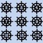 "Nautical Ship Wheel Wedding Table Numbers 1-15 Vinyl Sticker Decals 3""h x 3""w"