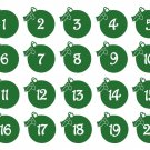 """Christmas Ball Holiday Party Table Numbers 1-20 Vinyl Sticker Decals 4""""h ea"""