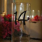 "Wedding Table Numbers 1-15 Centerpiece Vinyl Sticker Decals (4""h Numbers) (e)"