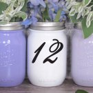 "Wedding Table Numbers 1-15 Centerpiece Vinyl Sticker Decals (4""h Numbers) (d)"