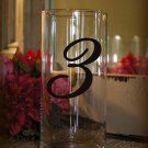 "Wedding Table Numbers 1-15 Centerpiece Vinyl Sticker Decals (4""h Numbers) (c)"