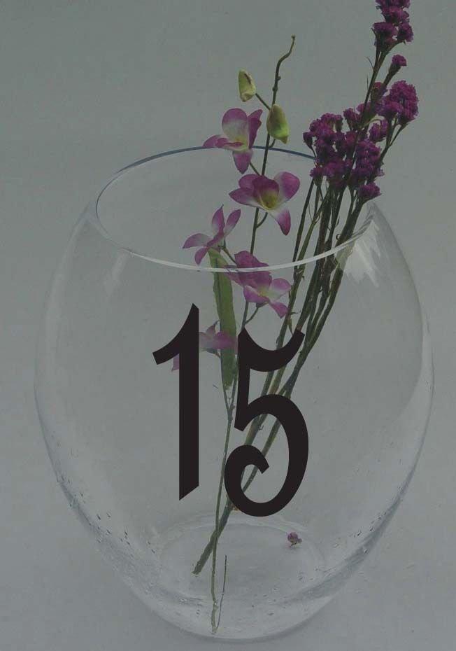 """Wedding Table Numbers 1-15 Custom Vinyl Sticker Decals (4""""h Numbers)"""
