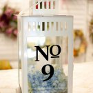 "Wedding Table Numbers 1-15 Vinyl Sticker Decals (5.5""h x 4""w Words)"