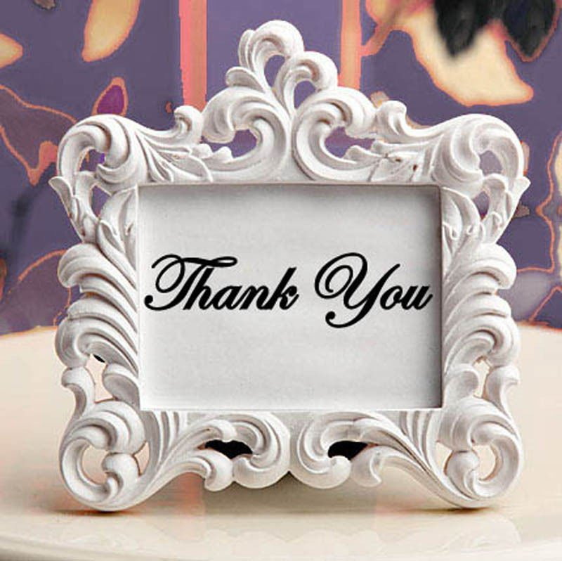 "Thank You Elegant Script Wedding Vinyl Sticker Decal 2""h x 8""w"