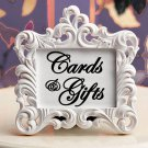 "Cards and Gifts Script Wedding Vinyl Sticker Decal 7.5""h x 8""w"