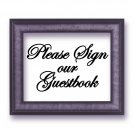 "Please Sign our Guestbook Script Wedding Vinyl Sticker Decal 4.75""h x 8""w"