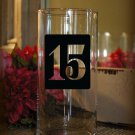 "Wedding Table Numbers 1-15 Vinyl Sticker Decals (3""h Squares)"