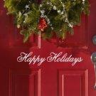 "Happy Holidays Christmas Vinyl Sticker Decal 4""h x 22""w"