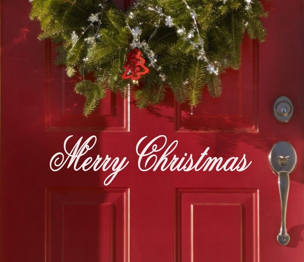 """Merry Christmas Holiday Vinyl Wall Sticker Decal 2""""h x 11""""w"""