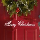 "Merry Christmas Holiday Vinyl Wall Sticker Decal 2""h x 11""w"