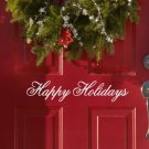 "Happy Holidays Vinyl Wall Sticker Decal 2""h x 11""w"