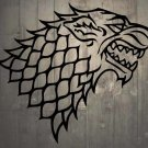 "Game of Thrones House of Stark Direwolf Vinyl Wall Sticker Decal 22""h x 25""w"