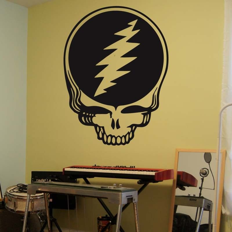 "Steal Your Face Grateful Dead Skull Music Vinyl Wall Sticker Decal 60""h x 45""w"