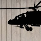 """Military Air Force USA Black Hawk Helicopter Wall Sticker Decal 44""""h x 72""""w"""