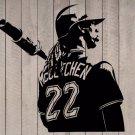 "Andrew McCutchen Pirates Baseball Player Vinyl Wall Sticker Decal 44""h x 43""w"