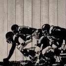 """Offensive Linemen Football Vinyl Wall Sticker Decal 54"""" w x 30"""" h"""