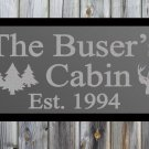 "Custom Cabin Frosted Etched Glass Vinyl Wall Sticker Decal 17""h x 36""- 40""w"