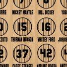 Retired Yankees Pinstripe Jersey Baseball Design Vinyl Decals (23 Sticker Sheet)