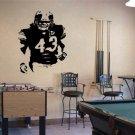 "Troy Polamalu Pittsburgh Steelers Football Vinyl Wall Sticker Decal 32""h x 22""w"