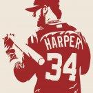 """BRYCE HARPER Washington Nationals Baseball Vinyl Decal Sticker 44""""h x 34""""w"""