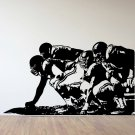 "Offensive Linemen Football Vinyl Wall Sticker Decal 39"" w x 22"" h"