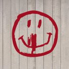 "Creepy Halloween Smiley Face Vinyl Wall Sticker Decal 9""h x 9""w"