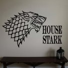 """Game of Thrones Sigils House of Stark Vinyl Wall Sticker Decal 22""""h x 33""""w"""