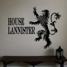 "Game of Thrones Sigils House of Lannister Vinyl Wall Sticker Decal 15.5""h x 20""w"