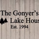 "Custom Family Lake House Vinyl Wall Quote Sticker Decal 14""h x 36""w- 40""w"