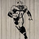 "Barry Sanders Detroit Lions Football Vinyl Wall Sticker Decal 22""w x 34""h"
