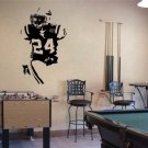 "Football Player Cornerback Vinyl Wall Sticker Decal 22""w x 40""h"