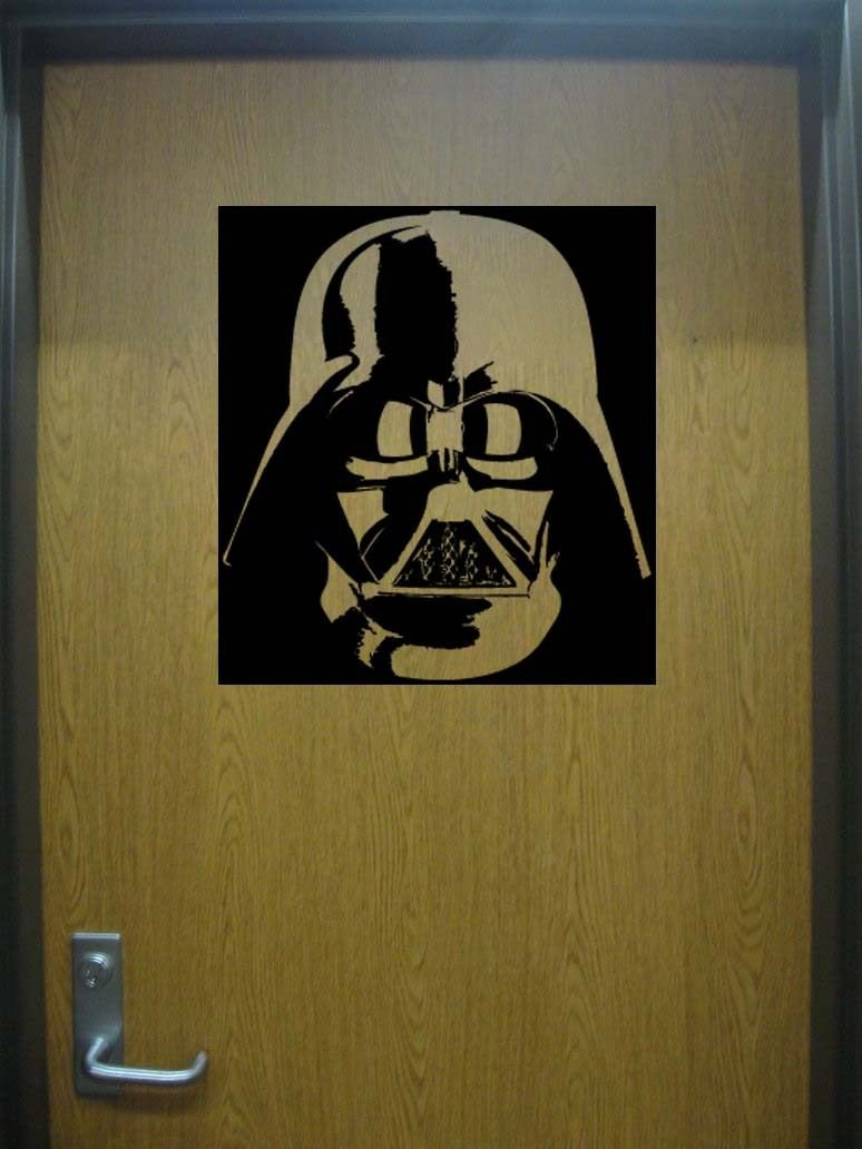 Star Wars DARTH VADER Helmet Mask Vinyl Wall Sticker Decal