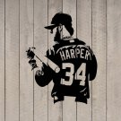 "BRYCE HARPER Washington Nationals Baseball Vinyl Sticker Decal 13""w x 17""h"