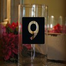 "Wedding Table Numbers Centerpiece 1-25 Vinyl Sticker Decals (4""h Numbers)"