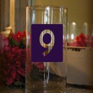 "Wedding Table Numbers Centerpiece 1-15 Vinyl Sticker Decals (4""h Numbers)"