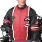 XXL Men's Leather Racing Jacket