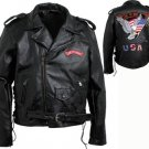 XXL Men's Cowgrain Leather Motorcycle Jacket