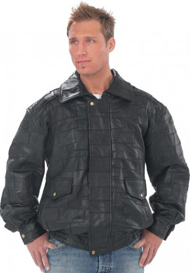 "XXL Men's Lambskin ""Bomber"" Jacket"