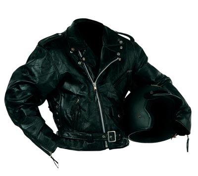 XL Men's Rock Design Leather Motorcycle Jacket