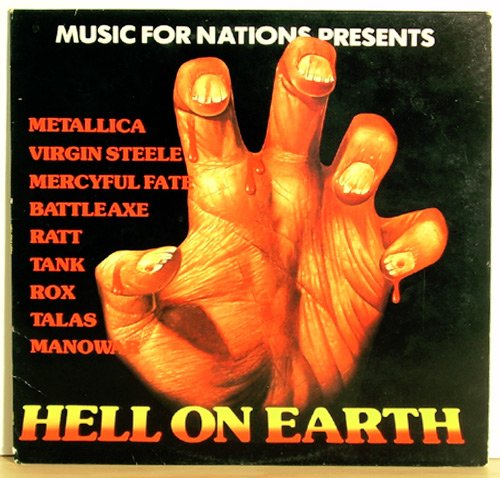 Vinyl LP HELL ON EARTH Music For Nations METALLICA VG+ FREE SHIPPING
