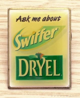 'Ask Me About' Swiffer DRYEL Promotional Pin RARE Free Shipping