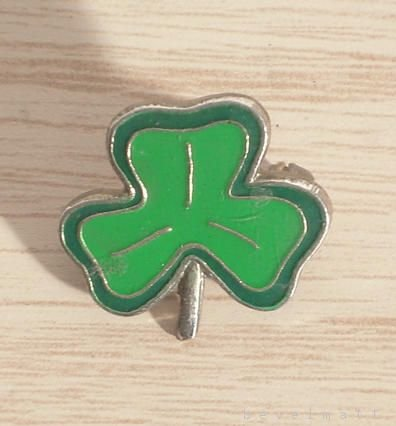 Three Leaf CLOVER Vintage Pin St. Patrick Accessory FREE SHIPPING