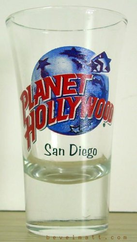 PLANET HOLLYWOOD San Diego Shot Glass COLLECTIBLE Free Shipping