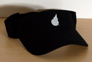 Jack In The Box Black Visor Silver EMBROIDERED Logo FREE SHIPPING