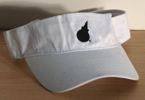 Jack In The Box White Visor Black EMBROIDERED Logo FREE SHIPPING